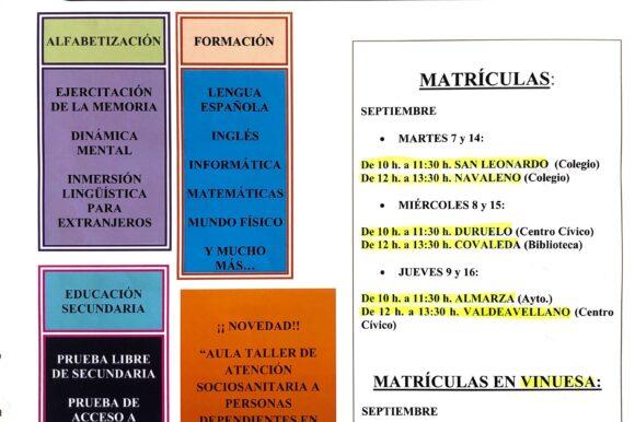 Matrícula Centro de Educación para Adultos CEPA Pinares – Curso 2021-2022